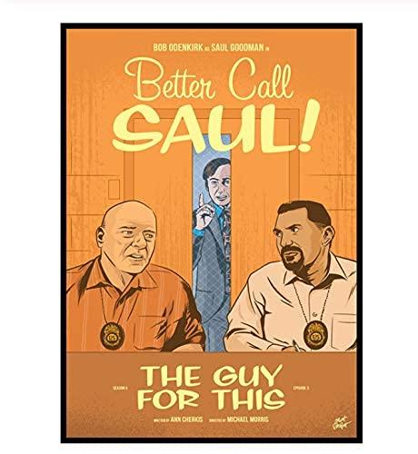 Better Call Saul Season 5 Retro Canvas Posterhome Decoración Pintura Vintage Pegatinas De Pared Decorativas 40X50Cm (Jn4775)