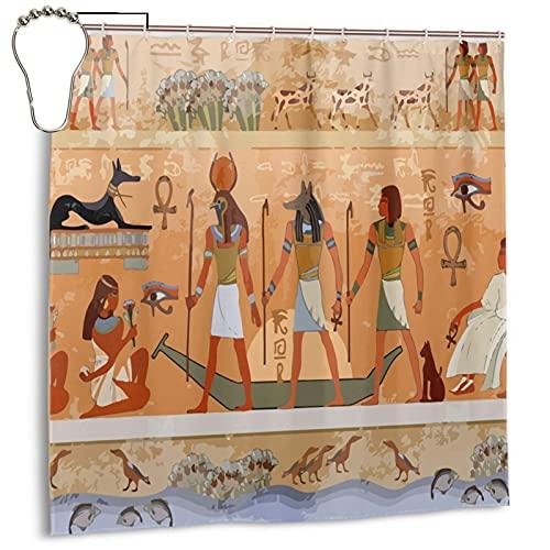 Gelingmei Ancient Egypt Mythology Shower Curtain,Waterproof Polyester Fabric,Bath Curtains Bathroom Decorations Home Decor Sets Beautiful Bathroom Decor with Hooks 72x72 Inch