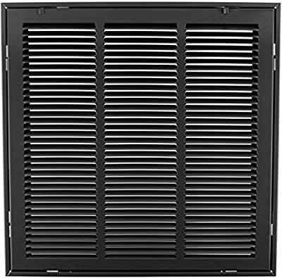 """18"""" X 18"""" Steel Return Air Filter Grille for 1"""" Filter - Removable Face/Door - HVAC Duct Cover - Flat Stamped Face - [Outer Dimensions: 20.5 X 19.75]"""