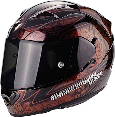 Scorpion Helm Motorrad exo-1200 Air Fantasy, black/red/Chameleon, SM