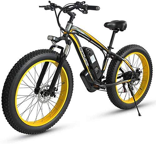 Bicicleta Eléctrica Plegable Bicicleta eléctrica de nieve, bicicleta de montaña eléctrica 500W 26 'Ebike Adultos Bicicleta con batería de iones de litio de 48V 15Ah 27 Velocidad - para todo terreno ba