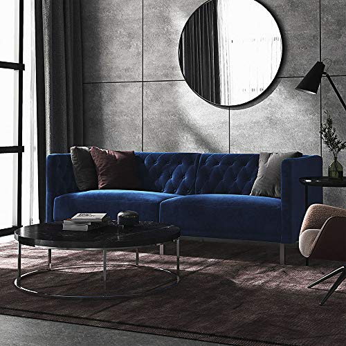 Kepooman 3 Seater Sofa Sofa Bed Loveseat Sofa Sofa Bed Set Sofa Chair Couch Sectional Sofa Sleeper Futon Sofa Bed, Deep Blue Velvet