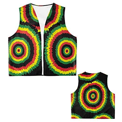 WIDMANN Casa del Disfraz Chaleco Rastafarian para Adulto