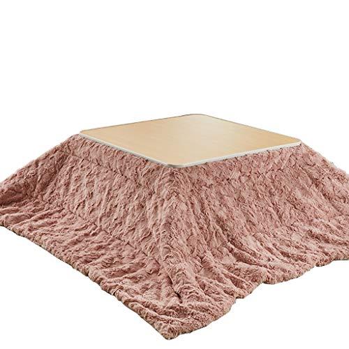 Kotatsu Mesa Calefactora Plegable Tatami Interior Doméstico Kotatsu Mesa Calefactora De Mesa De Café Mesa Calefactora con Edredón Mesa De Fácil Almacenamiento (Color : Pink, Size : 75 * 75cm)