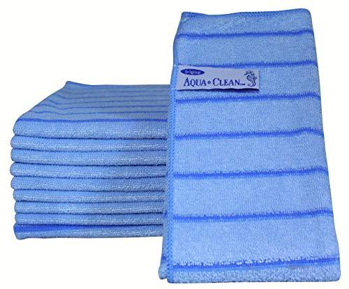 AQUA CLEAN Microfaser Reinigungstücher mit Kraftstreifen 10-tlg. (Blau)