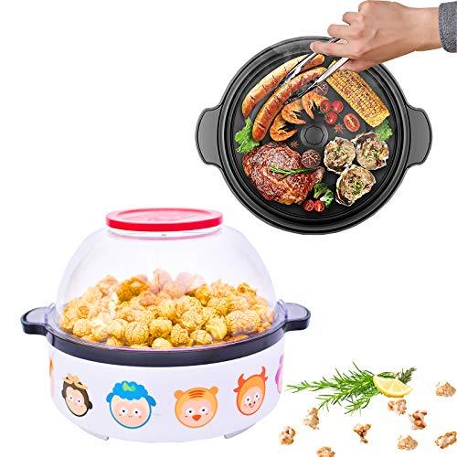 Popcorn Machine, Orville Redenbacher Airpopper West bend Stir Crazy Deluxe Presto Popcorn Poppers Maker Air Pop Machine Hippih Electric, Nostalgia Popcorn Maker Machine for Home (white)…