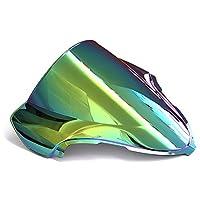 YUANYE スズキはやぶさGSXR1300 GSXR 1300オートバイのフロントガラスダブルバブルフロントガラスデフレクター1999-2007 (ディープイリジウム)