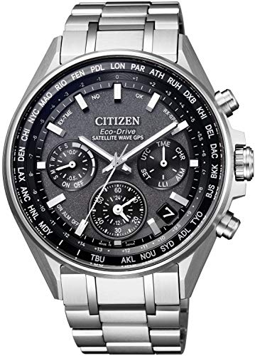 [シチズン] 腕時計 アテッサ CC4000-59E F950 エコ・ドライブGPS衛星電波時計 ダブルダイレクトフライト メンズ シルバー