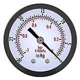 0 ~ -30inHg 0 ~ -1bar Manómetro de presión de vacío 50mm Marque el manómetro del medidor de presión para el aceite de gas de agua de aire