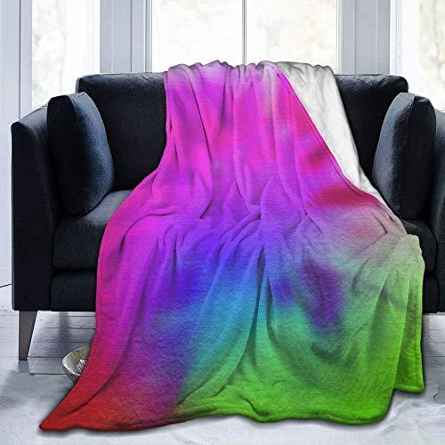 Pisang Throw Blanket Aquarell Tie Dye Ultra-Soft Micro Fleece Blanket Throw Super Soft Gemütliche Bettdecke für