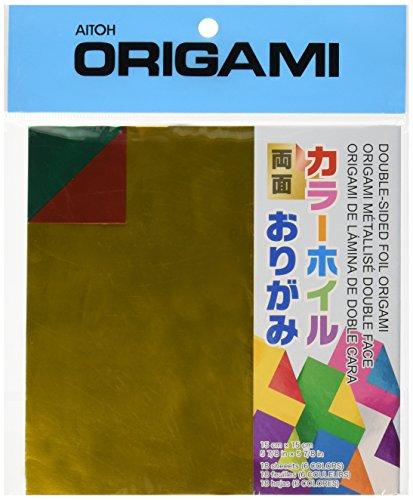 """Aitoh Origami di Carta 5,875"""" X5.875"""" 18/Pkg-assortiti Colori foglio biadesivo"""