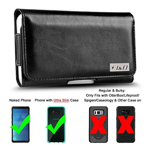 JundD Holster kompatibel für Galaxy S7 Active / S8 Active Holster mit Gürtelclip, PU-Leder Holster Tasche & ID Wallet Hülle für Samsung Galaxy S8 Active Hülle (passend mit nacktem Handy oder Slim Hülle)