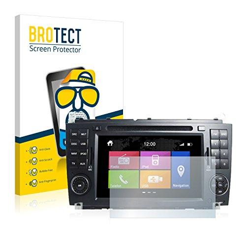 BROTECT 2X Entspiegelungs-Schutzfolie kompatibel mit Dynavin DVN CLK N6 (Mercedes-Benz) Displayschutz-Folie Matt, Anti-Reflex, Anti-Fingerprint