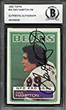 1983 topps #30 DAN HAMPTON authentic autograph chicago bears BGS BAS AUTHENTIC Graded Card