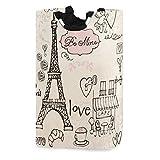 Love in Paris Cesto portabiancheria Torre Eiffel Cesto portaoggetti Cesto portaoggetti pieghevole grande Cesto portabiancheria per bambini per cameretta