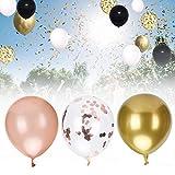 COHU Juego de Globos, Juego de Globos de Confeti para Fiestas, Decoraciones artesanales de 40 cm / 15,7 Pulgadas para Decoraciones de graduación, Bodas(Set B)