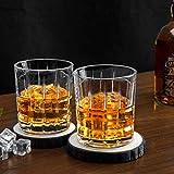 Homii Whisky Gläser, Whiskeygläser aus Kristall Set Geschenk, 2-teiliges,300ml - 5