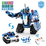VERTOY Robot Building Kit for Kids, STEM Remote Control Policeman and Police Car Toys for Boys 6-12 Years Old, 2 in 1 Educational Engineering Gift, 556PCS