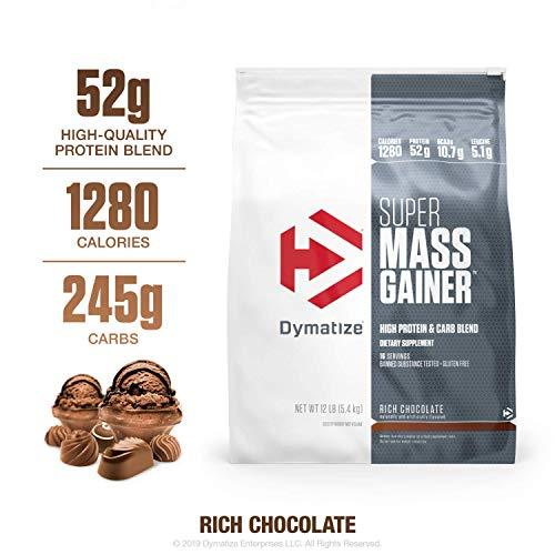 8. Dymatize Nutrition Super Mass Gainer Rich Chocolate Bag - 5.44 Kg