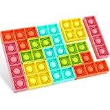 BZLife 10 Pcs Push Bubble Sensory Fidget Toys, Jigsaw Puzzle Pop Fidget Toys for Autism Special Needs Stress Relief Squeeze Toys for Kids and Adult