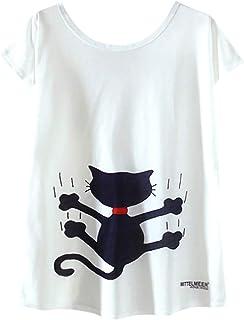 FELZ Camiseta para Mujer Moda Camiseta De Las Mujeres Cuello Redondo Impreso Jersey Manga Corta Casual Pullover Tops Tees ...
