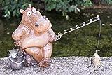 Unbekannt Polyresin Angler sitzend Höhe 14 cm Geschenk Witzig Tierfigur