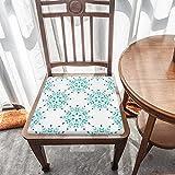 Cojín de espuma viscoelástica, diseño retro de damasco, comodidad y suavidad superiores, lavable, asiento de coche, silla de oficina/sillas de comedor