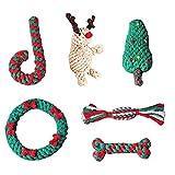 N.Z Juego de 6 juguetes de Navidad para masticar mascotas de Navidad para perros de Navidad