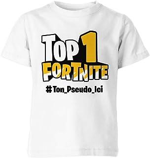 Tshirt Enfant Personnalisé Top 1 Battle Royale Avec Ton Pseudo Personnalisé