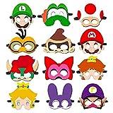 HHQ Máscara de Super Mario Máscara de Decoración Mario Bros Fiesta Máscaras Super Mario Máscaras de Fiesta de Cumpleaños Mario Bros Fiesta de Halloween Navidad