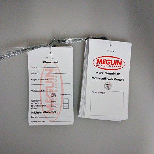 Ölwechsel-Anhänger MEGUIN - 25 Stück