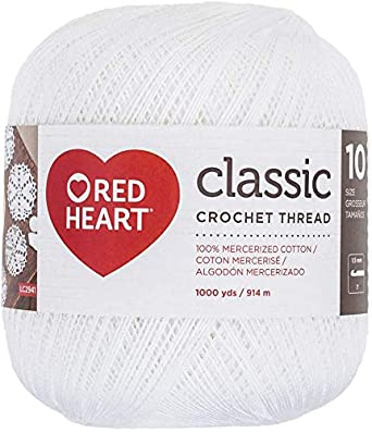 New Thread Size 10 Red Heart Classic Crochet