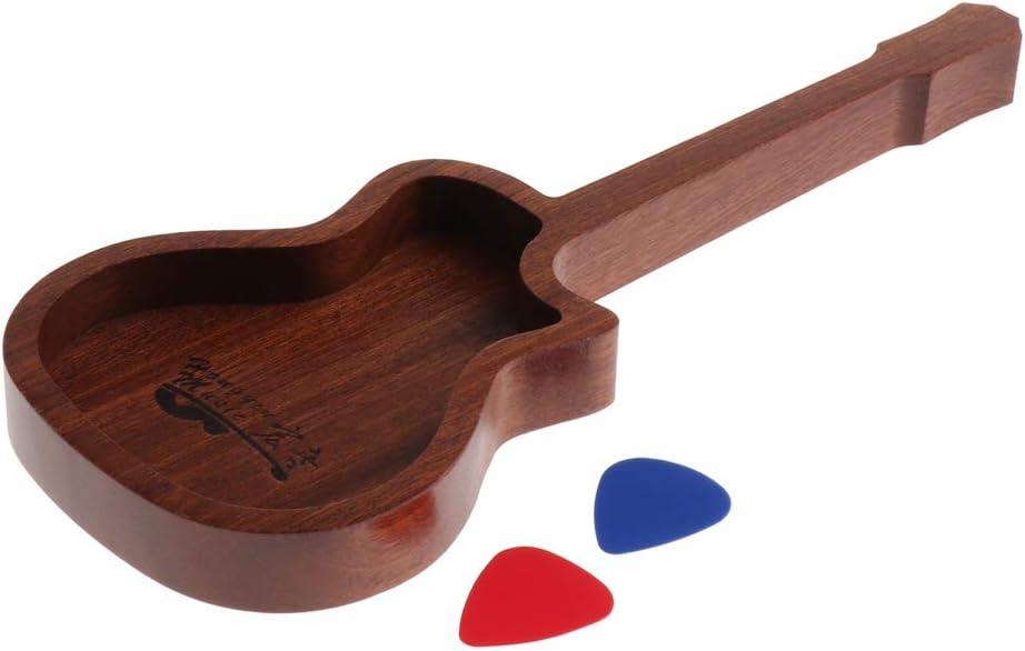Almencla Wooden Guitar Oakland Mall Picks Holder Box Acce quality assurance Shape