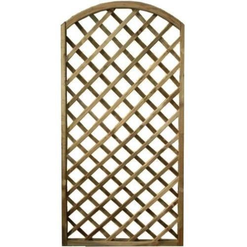 Pannello grigliato ad arco in legno 90x180 cm