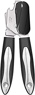 Can Opener, Manual Can Opener with Heavy Duty Ergonomic Anti Slip Grip Handle, Food Grade Stainless Steel Multifunction Can Opener Ideal For Seniors with Arthritis
