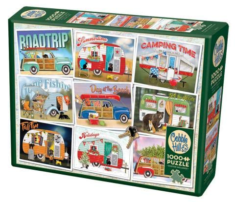 Cobble Hill 1000 Piece Puzzle - Hitting The Road - Sample Poster Included