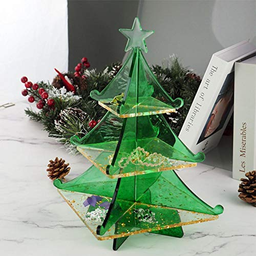 3D Christmas Tree DIY Silicone Mold, Xmas Pine Tree Soap Baking Candle Molds for Mousse Cake Muffin Baking Ice Cube Jello Chocolate Soap Lotion Bar Bath Bomb Candle