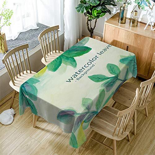 QHDHGR Nappe Arbre Vert Imprimé Anti Tache Nappe de Table Imperméable Lavable et Facile d'entretien pour Ménage Table Basse Jardin Extérieure Picnic Taille:140cm x 240cm
