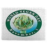 huagu Puzzle 500 Piezas-Rompecabezas Adultos-día Mundial del Vegano feriado Internacional de noviembre-Juegos Educativos-Entretenimiento,Niños y Adolescentes,Divertido Regalo