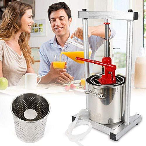 HYLH Entsafter mit großer Kapazität 12L Fruchtsaftpresse Obstpresse Obsthacker Obstmühle Apfelpresse für die Wein- / Apfelweinherstellung