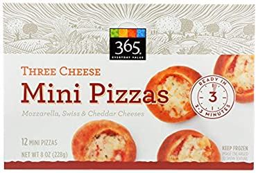 365 Everyday Value, Three Cheese Mini Pizzas, 12 ct, (Frozen)