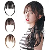 Natural Synthetic Hair Flat Bangs/Fringe Mini Hair Bangs Fashion one Clip-in Hair Extension(Light Brown)