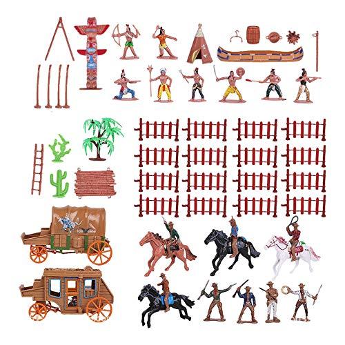 Sharplace Indios Y Vaqueros, Casa de Muñecas, Paisajismo, Acuario, Terrarios, Decoración, Adornos