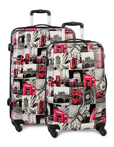 Fabrizio Trolley 2er Set London Koffer-Set, 77 cm, 89 Liter, Bunt