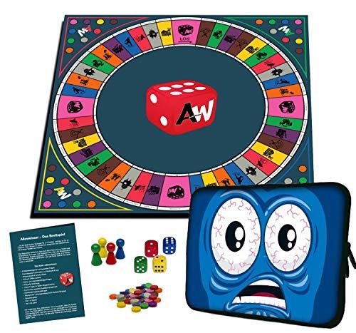 Alleswisser - Das Brettspiel, interaktives Quiz-, Wissens- und Familienspiel mit App für iOS und Android mit Tasche im Spiel & Spass-Layout