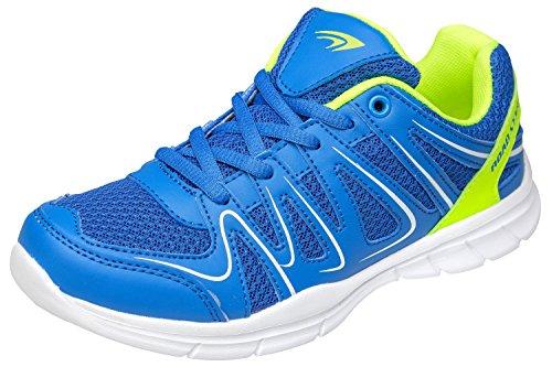 gibra® Sneaker Sportschuhe, Art. 2037, sehr leicht und bequem, blau/neongrün, Gr. 39