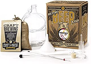 Craft A Brew Home Brewing Kit for Beer – Craft A Brew Hefeweizen Beer Kit – Starter Set 1 Gallon - Reusable Make Your Own ...