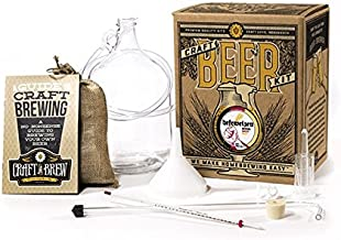 Craft A Brew Home Brewing Kit for Beer – Craft A Brew Hefeweizen Beer Kit – Starter Set 1 Gallon - Reusable Make Your Own Beer Kit