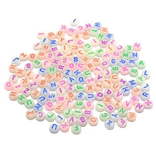 Desconocido Generic 500 Cuentas de Pulsera para el Kit de fabricación de Joyas, Juego de Kit de Manualidades de Cuentas, Cuentas de Forma Oblata, Arte y artesanía DIY - Las Cartas