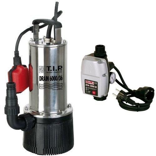 T.I.P. Tauchdruckpumpe Drain 6000/36 + Elektronische Pumpensteuerung BRIO 2000 M